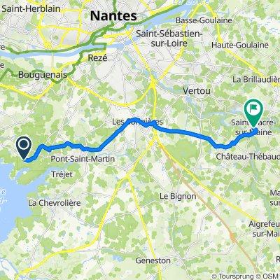 De 2–8 Impasse des Guifettes, Saint-Aignan-Grandlieu à 1–5 Rue d'Échichens, Saint-Fiacre-sur-Maine