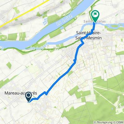 De Rue des Écluses, Mézières-lez-Cléry à 348–358 Route de Saint-Mesmin, Saint-Pryvé-Saint-Mesmin