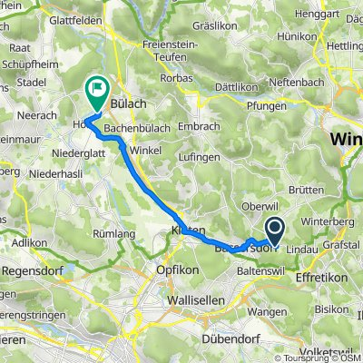 Rietbachstrasse 7–17, Nürensdorf nach Hofstrasse 12, Höri