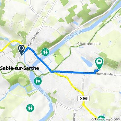 De 27 Rue Paul Doumer, Sablé-sur-Sarthe à 7 Rue de la Martinière, Sablé-sur-Sarthe