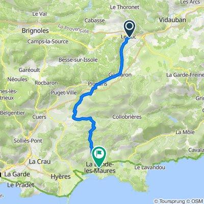 De Route de Nice, Le Luc à 11–17 Place du 11 Novembre, La Londe-les-Maures