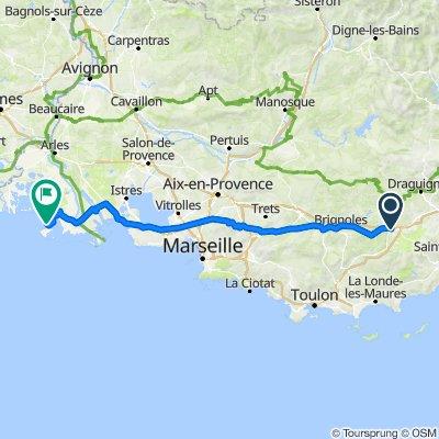 Itinéraire à partir de Route de Nice, Le Luc