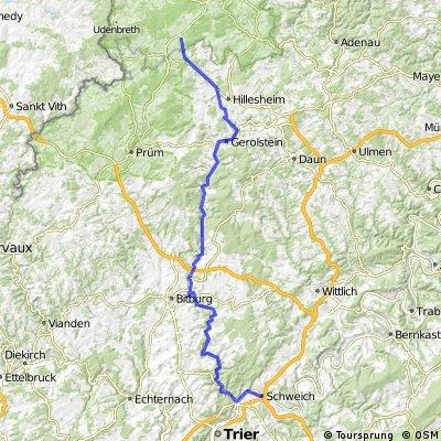 Kyll/Moselradweg 1: Dahlem bis Schweich