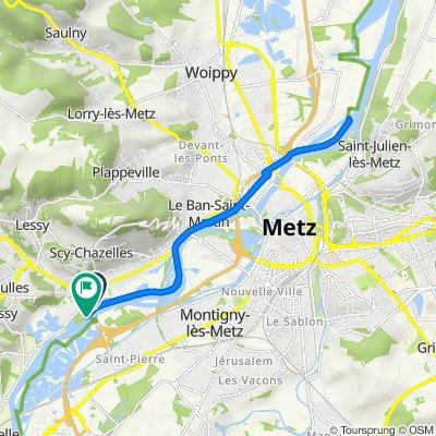 De La Saussaie 106B, Moulins-lès-Metz à La Saussaie 106b, Moulins-lès-Metz