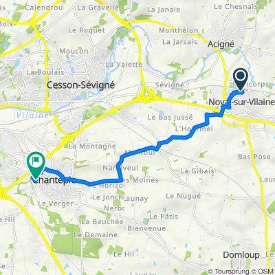 De 19 Rue Antonio Vivaldi, Noyal-sur-Vilaine à 20 Route de Châteaugiron, Chantepie
