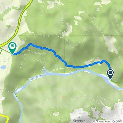 Route nach Schnalzstraße 4, Peiting