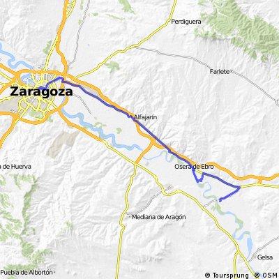 Ruta EBRO 2011 - ETAPA 15 - DOMINGO 24 JULIO - ZARAGOZA -  LA PUEBLA DE ALFIDEN - VILLAFRANCA DE EBRO - OSERA DE EBRO - PINA DE EBRO - 48 KM