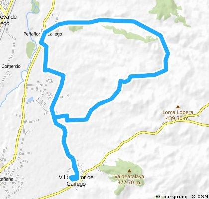 Villamayor-Peñaflor(monte) y vuelta por pantano
