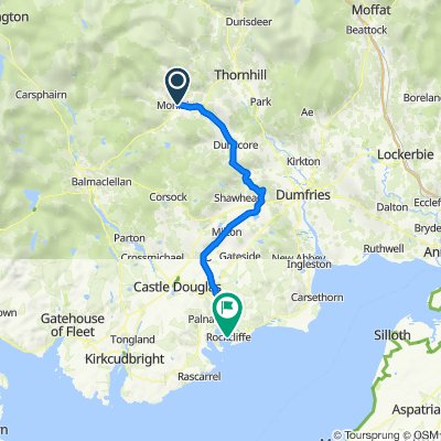 Route from 10 High St, Moniaive, Thornhill