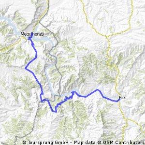 Ruta EBRO 2011 - ETAPA 18 (sur) - MIERCOLES 27 JULIO - MEQUINENZA - FAYÓN 21 - EMBALSE RIBA ROJA 43 - PANTANO FLIX PRESA 45 - RIBA ROJA DEBRE 51- FLIX - 58 KM
