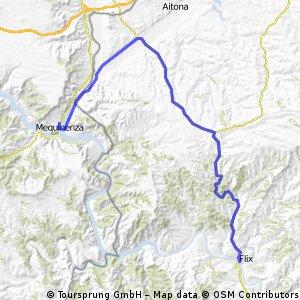 Ruta EBRO 2011 - ETAPA 18 BIS (norte) - MIERCOLES 27 JULIO - MEQUINENZA - LA GRANJA 10 - SEROS 15 - MAIALS 30 - FLIX - 51 KM