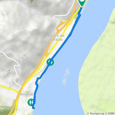 Route to N 10 2–4, Vila Franca de Xira