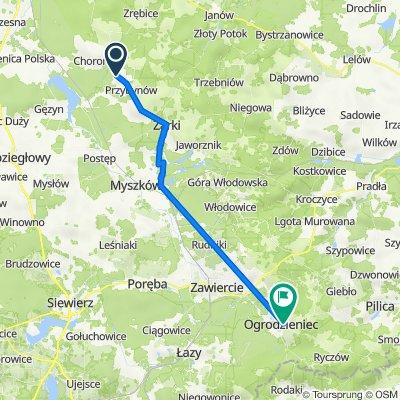 Częstochowska, Żarki do Plac Piłsudskiego 17, Ogrodzieniec