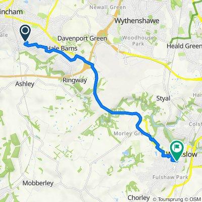 25 Appleton Road, Altrincham to 60-62 Alderley Road, Wilmslow