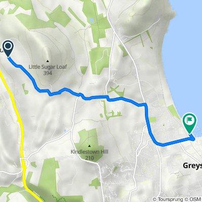 Bohilla Lane, Kilmacanogue to 4 The Strand, Greystones