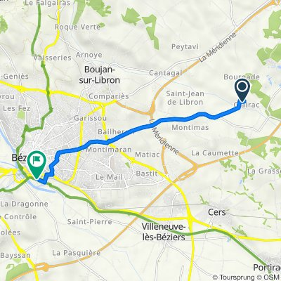 Domaine de Clairac, Béziers to 31 Avenue Pierre Brousse, Béziers