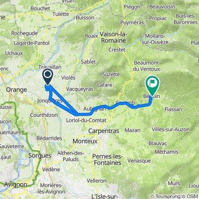 Itinéraire vers 340 Route du Mont Ventoux, Bédoin