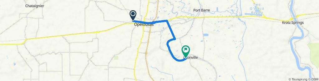 2212 Ledoux Cir, Opelousas to 143 Carrier St, Leonville