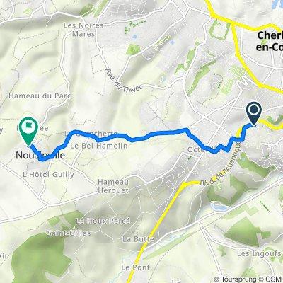 De 4bis Rue de Penthièvre, Cherbourg-en-Cotentin à 1 Lotissement de l'Héleinerie, Nouainville