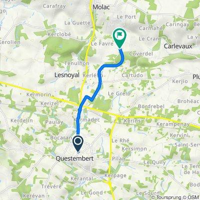 De 6 Boulevard Pasteur, Questembert à 1–3 Lindeul, Molac
