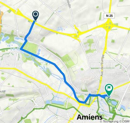 De 48des Archicamps, Amiens à 32 Rue des Bonnards, Amiens