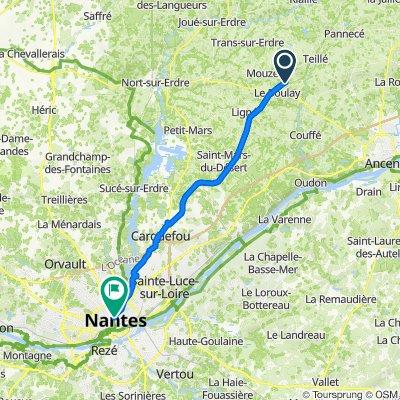 De 1 La Tardivière, Mouzeil à 2 Rue Châteaubriand, Nantes