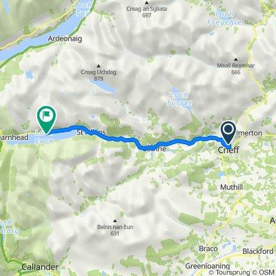 Ewanfield, Crieff to Loch Ern