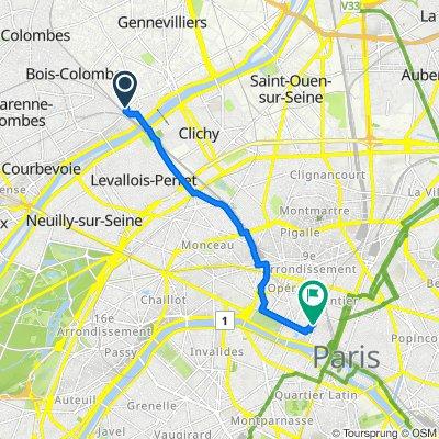 De 14 Rue Franklin, Asnières-sur-Seine à 26–30 Rue Jean-Jacques Rousseau, Paris