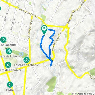 De Avenida 36 S 592, Puebla a Calle 59 Ote 361, Puebla