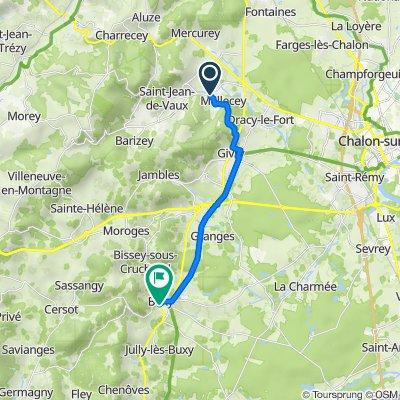De 2–86 Montée Saint-Pierre, Mellecey à 25 Rue de Barranges, Buxy