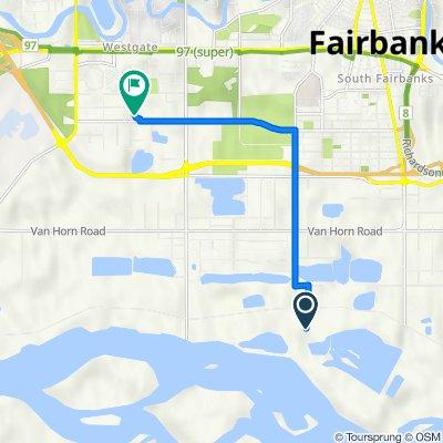 Westlake Ln, Fairbanks to 3040 Davis Rd, Fairbanks