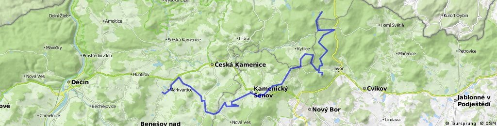 Jedlová - Klíč - Kamenický Šenov - Markvartice