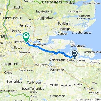 9–99 Raite Green, Sittingbourne to 2-3 Kennet Road, Dartford