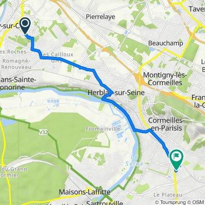 De 28 Rue des Capucines, Eragny à 8–10 Rue de l'Angoumois, Argenteuil