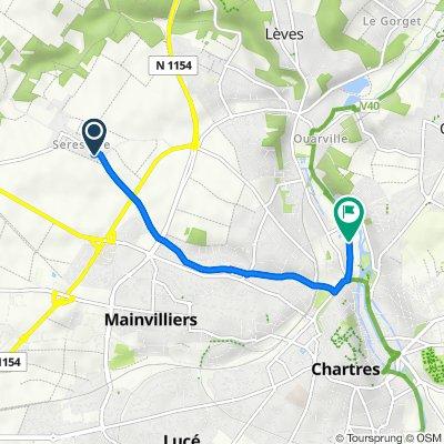 De Rue de l'Arsenal 44, Mainvilliers à Résidence d'Aligre 29, Chartres