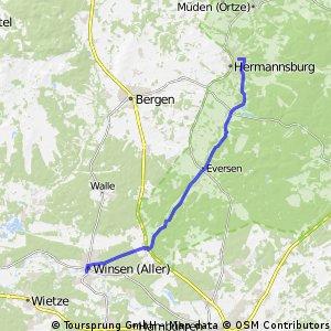 Von Hermannsburgburg nach Winsen