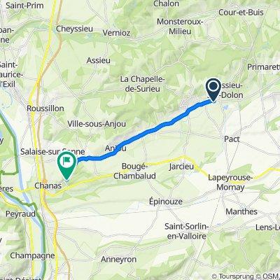 D51, Moissieu-sur-Dolon to 1 Route d'Agnin, Chanas