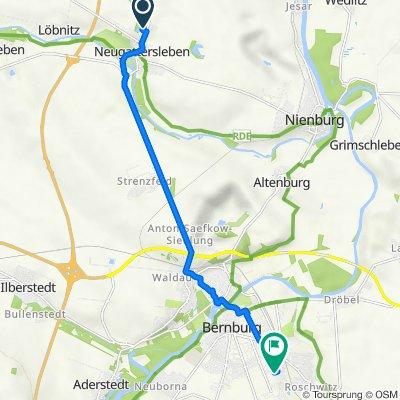 Brumbyer Straße 11, Nienburg (Saale) nach Krummacherring 35, Bernburg (Saale)