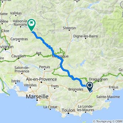 De Route de Nice, Le Luc à Le Grand Mont Ventoux, Saint-Léger-du-Ventoux