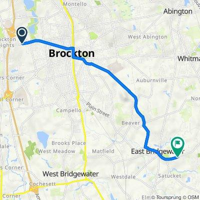 795 Pleasant St, Brockton to 447 Central St, East Bridgewater