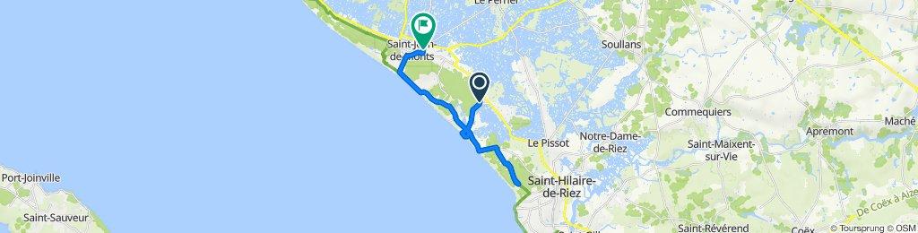 De Chemin de Montociel 26, Saint-Jean-de-Monts à Rue de la Dechaume 22, Saint-Jean-de-Monts