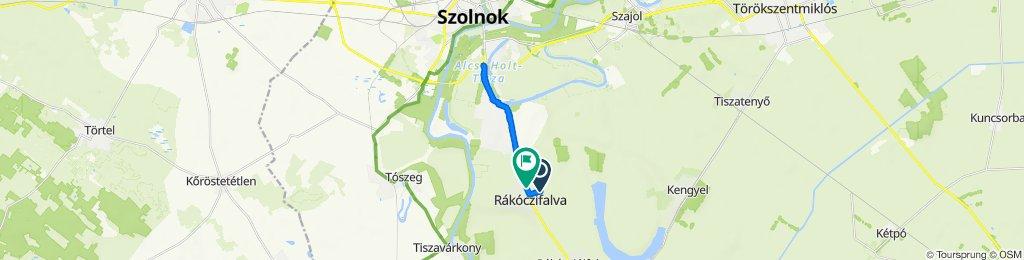 Gyerekekkel Rákóczifalva to Szolnok 4es út aluljáró és vissza