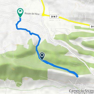 De Chemin de Bardeou, Brignoles à Rue Antoine Rochas 2, Brignoles