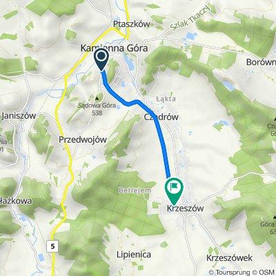 Droga rowerowa z Kamiennej Góry do Krzeszowa śladem dawnej kolei