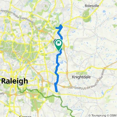 6112 Crayford Dr, Raleigh to 5908 Buffaloe Rd, Raleigh