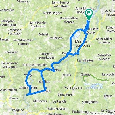 De Rue du Monument 3, Aurec-sur-Loire à Rue du Monument 3, Aurec-sur-Loire