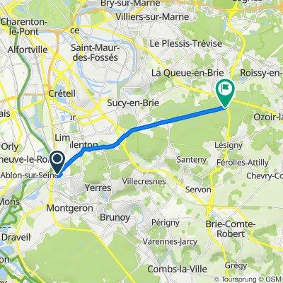 De 19 Allée Beauséjour, Villeneuve-Saint-Georges à Route Royale, La Queue-en-Brie