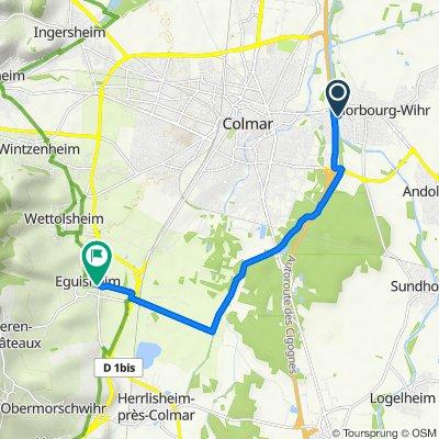 Allée du Camping 1, Horbourg-Wihr nach Route de Wettolsheim 1, Eguisheim