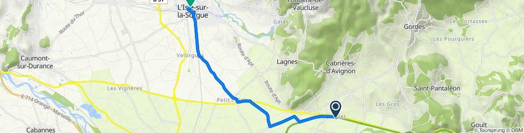 190 Avenue du Tourail, Maubec nach 6 Rue du Docteur Jean Roux, L'Isle-sur-la-Sorgue