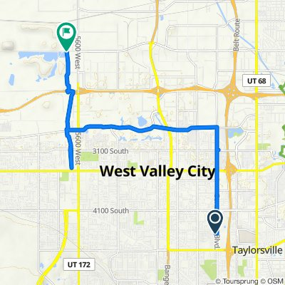W Highgate Dr, West Valley City to 5835–6077 W California Ave, Salt Lake City